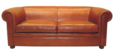 UK-Chesterfield-Sofa London Classic Plain 2er